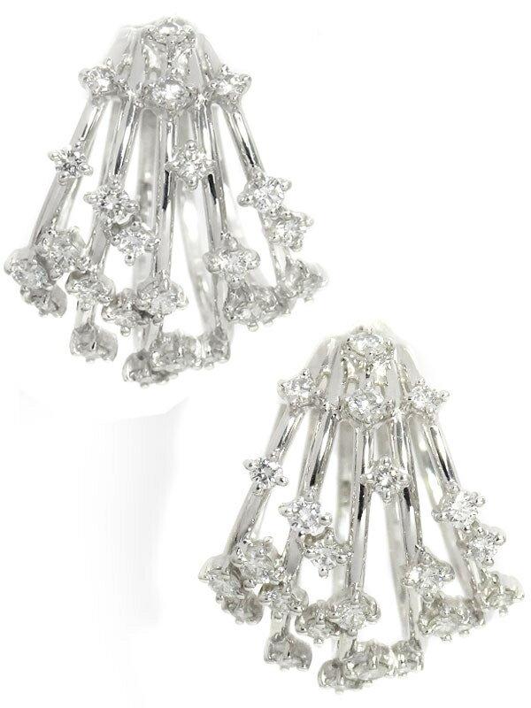 【TASAKI】【フープ】タサキ『PT900 ダイヤモンド0.58ct 0.58ct ピアス』1週間保証【中古】