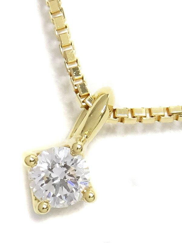 【TASAKI】タサキ『K18YG 1Pダイヤモンド0.06ct ネックレス』1週間保証【中古】
