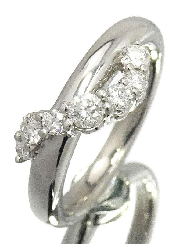 【星の砂】ホシノスナ『PT900 ダイヤモンド0.33ct リング』10号 1週間保証【中古】
