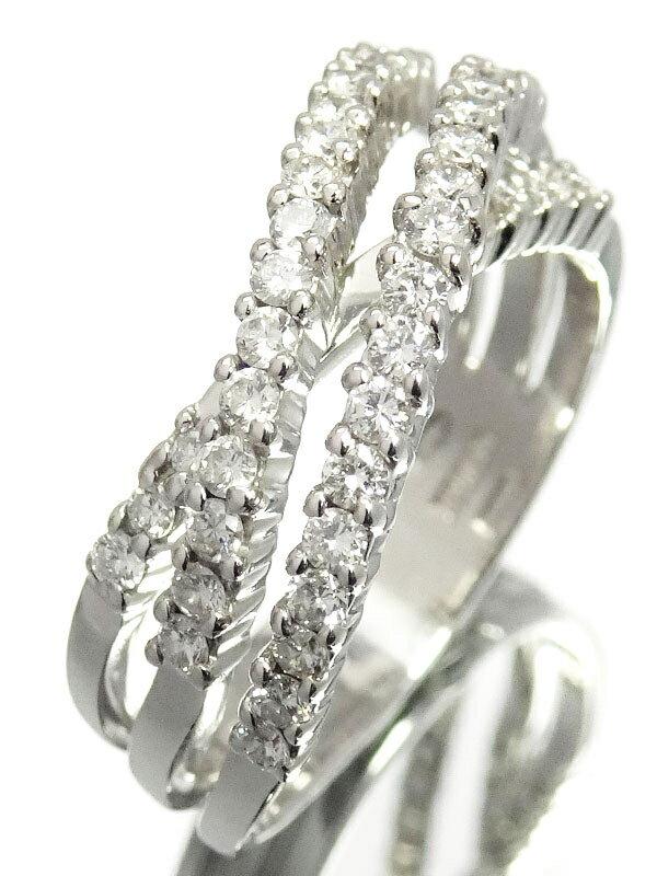 【DAMIANI】ダミアーニ『K18WG ダイヤモンド リング』15号 1週間保証【中古】