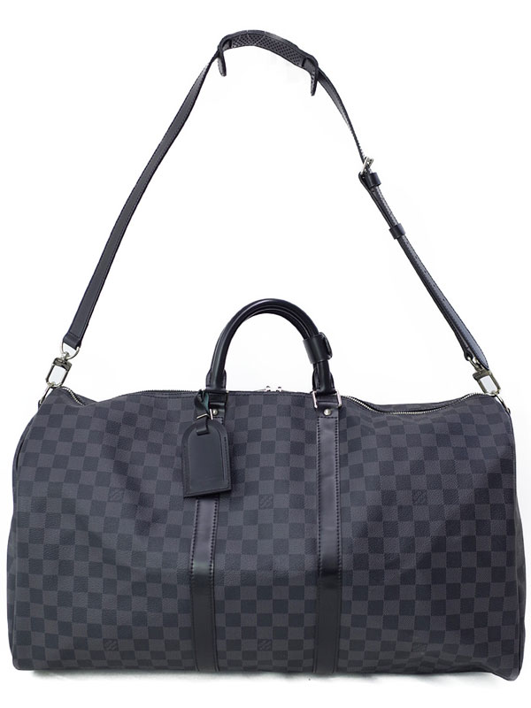 【LOUIS VUITTON】ルイヴィトン『ダミエ グラフィット キーポル バンドリエール55』N41413 メンズ 2WAYバッグ 1週間保証【中古】