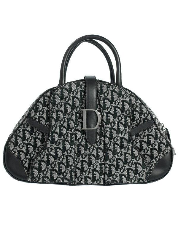 【Christian Dior】クリスチャンディオール『トロッター柄 ミニボストンバッグ』レディース ハンドバッグ 1週間保証【中古】