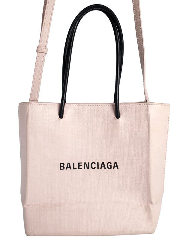 【BALENCIAGA】バレンシアガ『ショッピングトート XXS 2WAYバッグ』597858 レディース 1週間保証【中古】