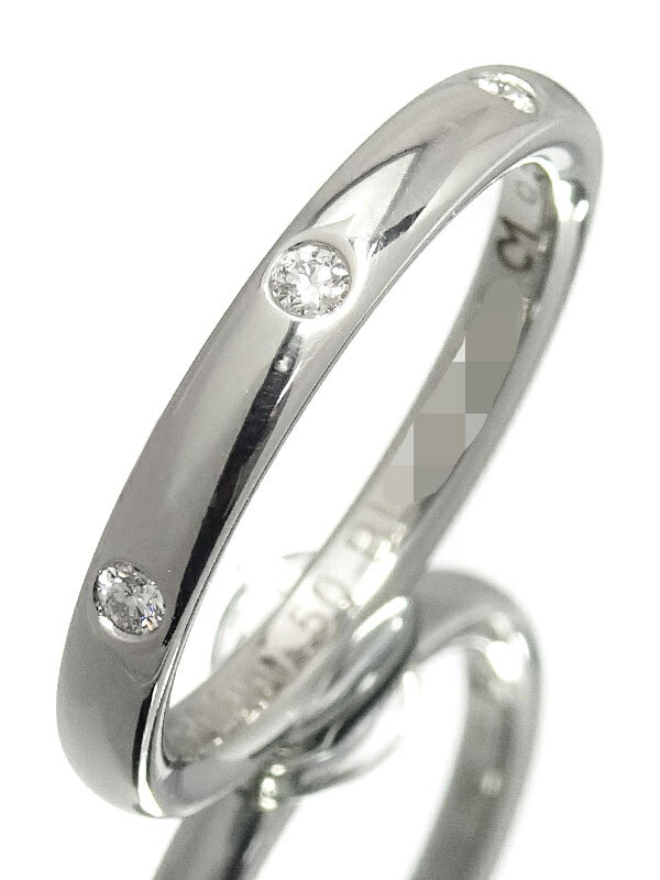 【Van Cleef & Arpels】【VCA】【仕上済】ヴァンクリーフ&アーペル『PT950 アンフィニ エトワール リング 3Pダイヤモンド』9.5号 1週間保証【中古】