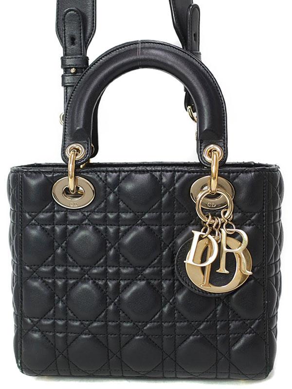 【Christian Dior】【カナージュ】クリスチャンディオール『レディディオール(S)』レディース 2WAYバッグ 1週間保証【中古】