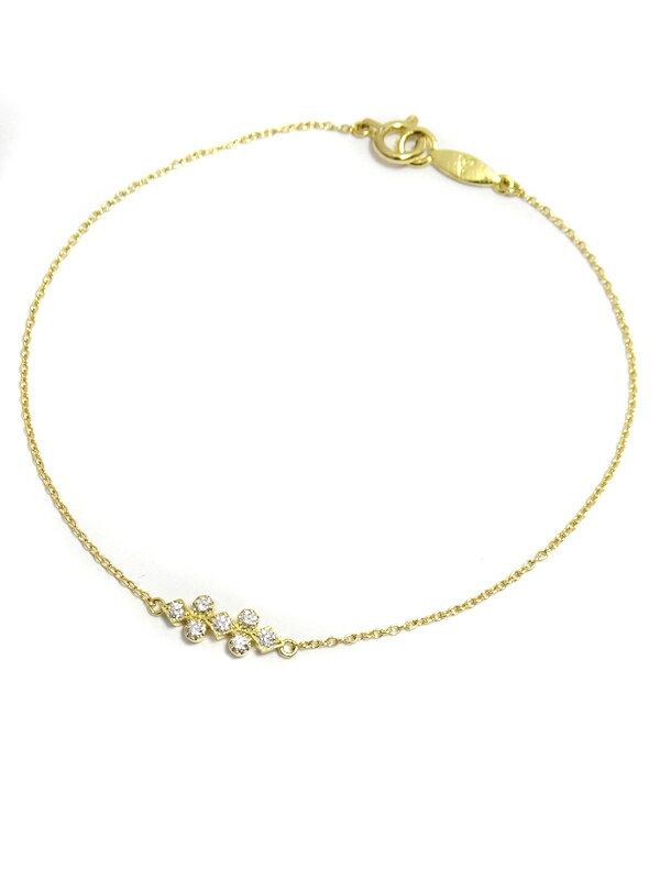 【AHKAH】【vivian couture】アーカー『K18YG ヴィヴィアンクチュール フローレントブレスレット ダイヤモンド』1週間保証【中古】