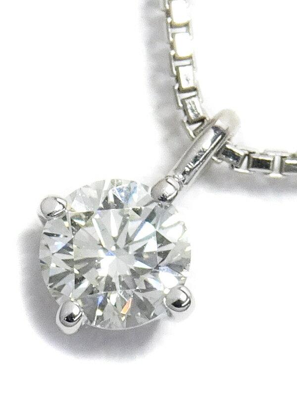 【TASAKI】タサキ『K18WG 1Pダイヤモンド0.24ct ネックレス』1週間保証【中古】
