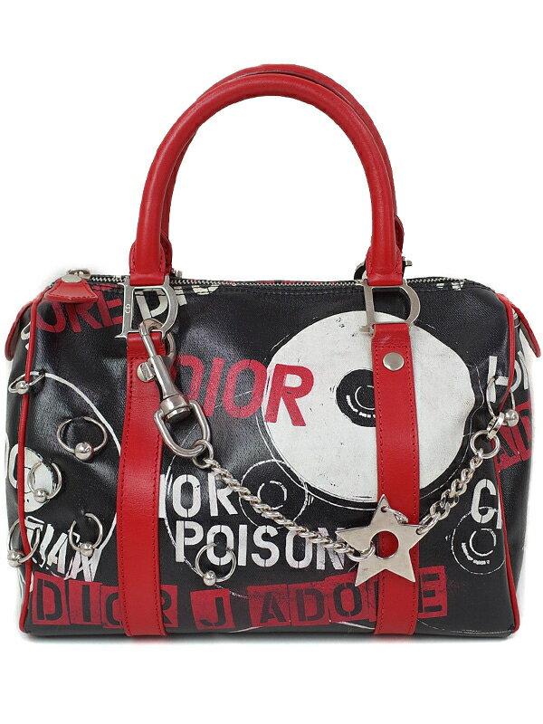 【Christian Dior】クリスチャンディオール『ポップライン ミニボストンバッグ』レディース ハンドバッグ 1週間保証【中古】