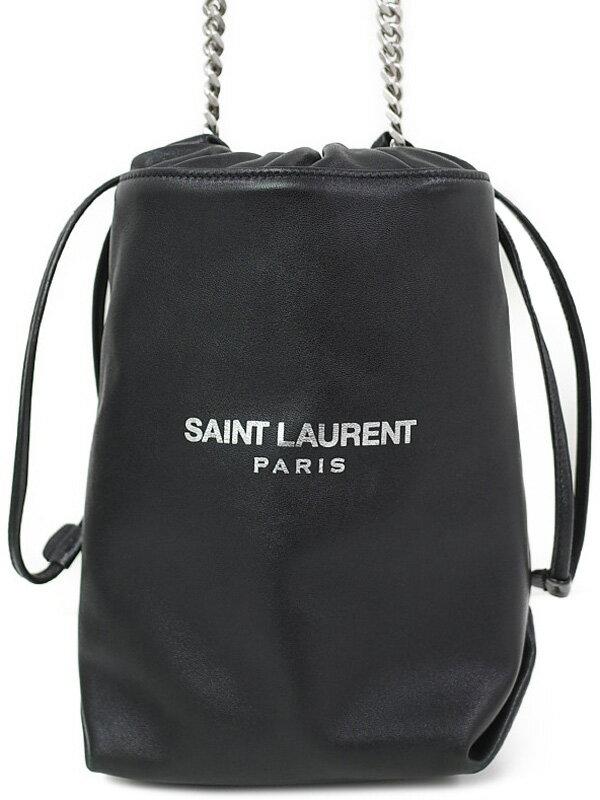 【SAINT LAURENT PARIS】【巾着型】サンローランパリ『ポーチ テディ』583328 レディース ショルダーバッグ 1週間保証【中古】