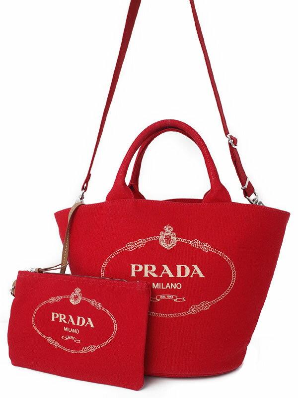 【PRADA】プラダ『カナパ ファブリック ハンドバッグ』レディース 2WAYバッグ 1週間保証【中古】