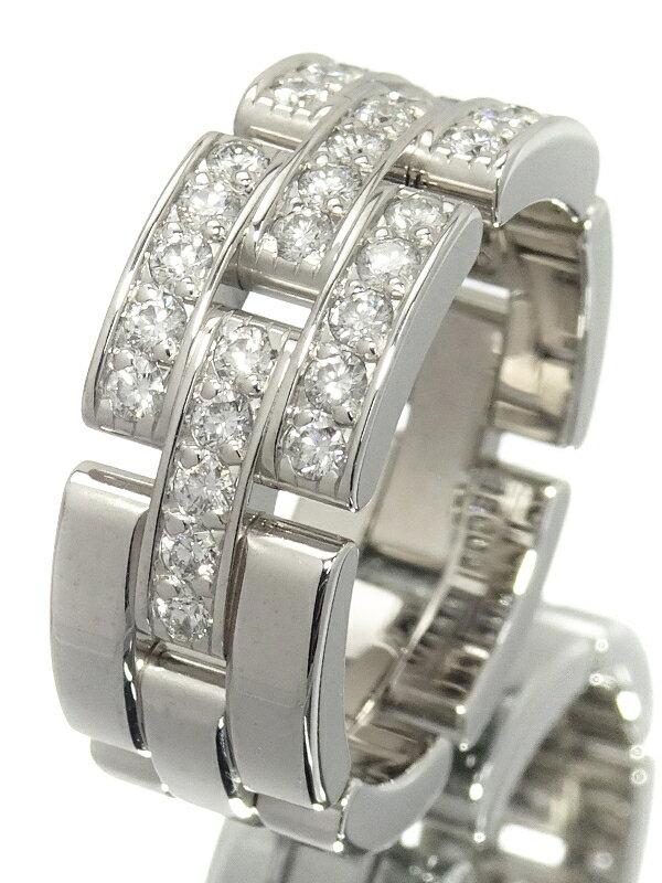 【Cartier】【仕上済】カルティエ『K18WG マイヨンパンテール リング 3連ハーフパヴェ ダイヤモンド』11.5号 1週間保証【中古】