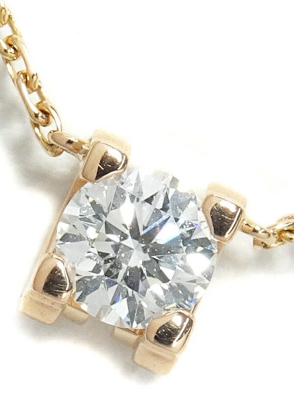 【Cartier】カルティエ『K18PG Cドゥ カルティエ 1Pダイヤモンド ネックレス』1週間保証【中古】