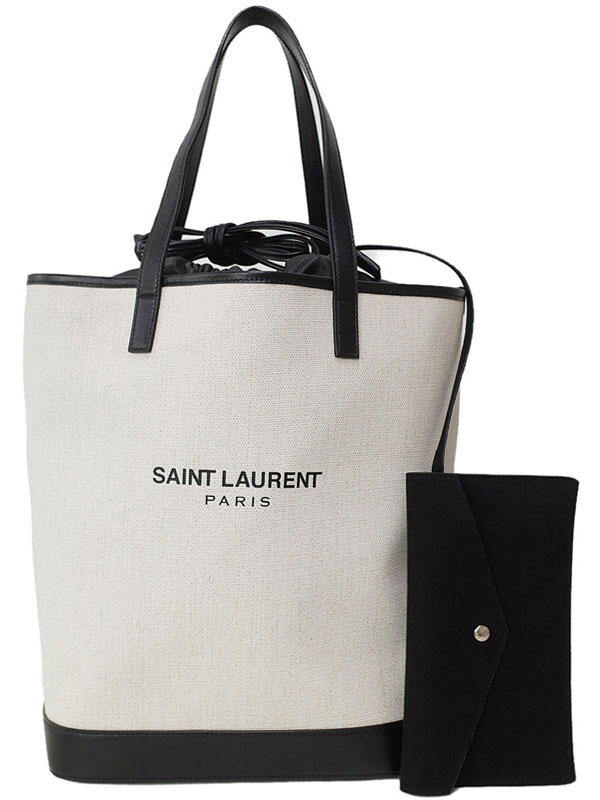 【SAINT LAURENT PARIS】サンローランパリ『テディ トートバッグ』551595 レディース 1週間保証【中古】