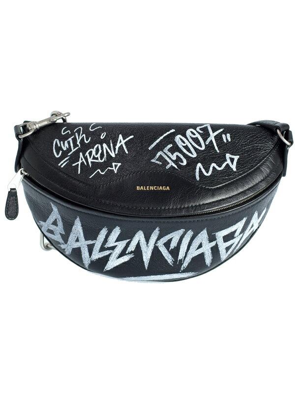 【BALENCIAGA】バレンシアガ『グラフィティ スーベニアバッグ XS』518163 メンズ レディース ボディバッグ 1週間保証【中古】