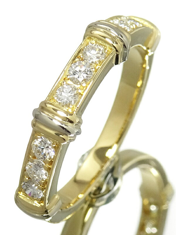 【Cartier】【メーカー仕上済】カルティエ『K18YG コンテッサ リング ハーフダイヤモンド』12号 1週間保証【中古】