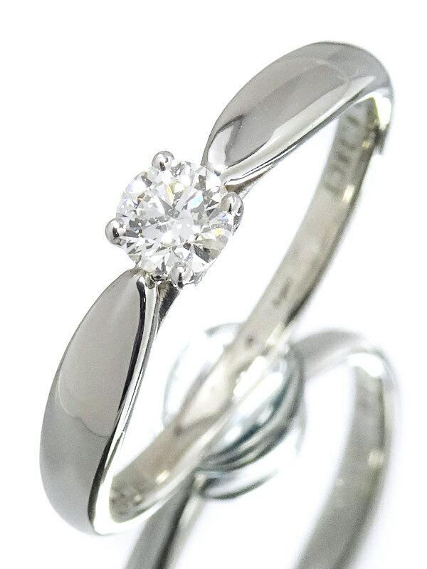 【TIFFANY&Co.】ティファニー『PT950 ハーモニーリング 1Pダイヤモンド0.18ct』10号 1週間保証【中古】
