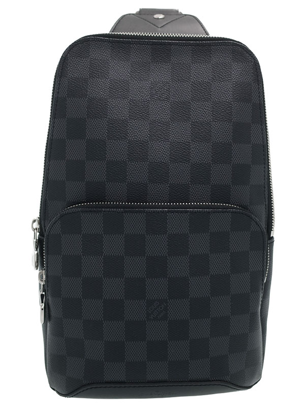 【LOUIS VUITTON】ルイヴィトン『ダミエ グラフィット アヴェニュー スリングバッグ』N41719 メンズ ボディバッグ 1週間保証【中古】