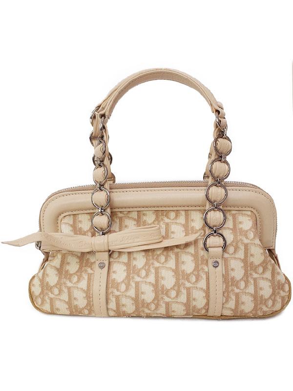 【Christian Dior】クリスチャンディオール『トロッター柄 ロマンティック ミニハンドバッグ』LCP44873M102 レディース 1週間保証【中古】