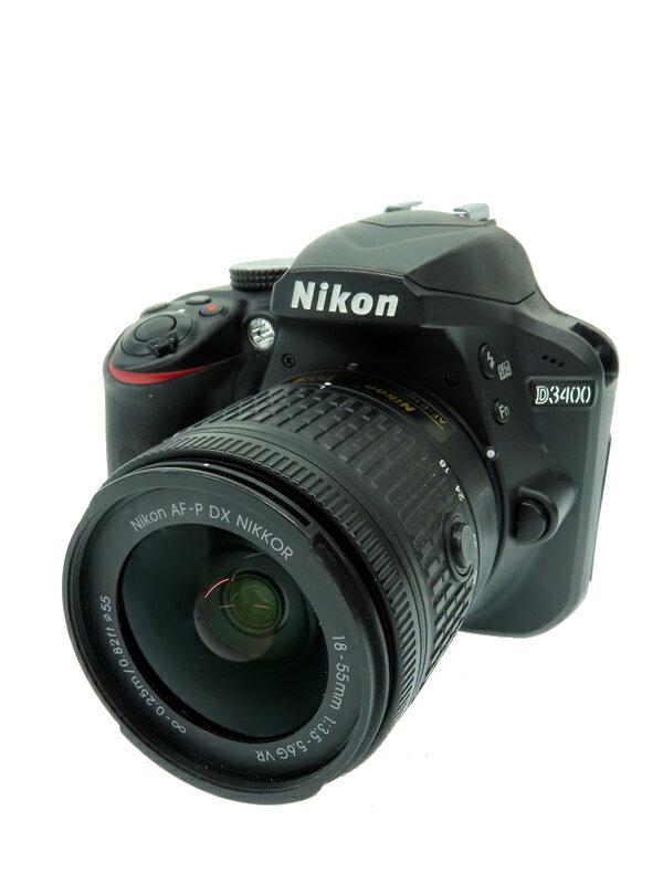 【Nikon】ニコン『D3400 18-55 VR レンズキット』ブラック DXフォーマット SDXC フルHD動画 2416万画素 デジタル一眼レフカメラ 1週間保証【中古】
