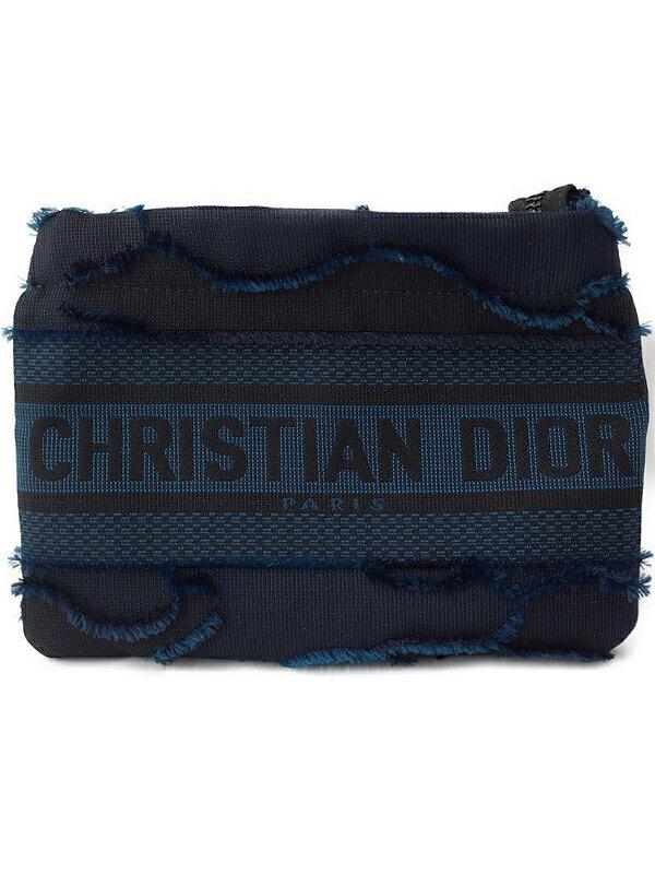 【Christian Dior】クリスチャンディオール『カモフラージュ エンブロイダリー ポーチ』レディース 1週間保証【中古】