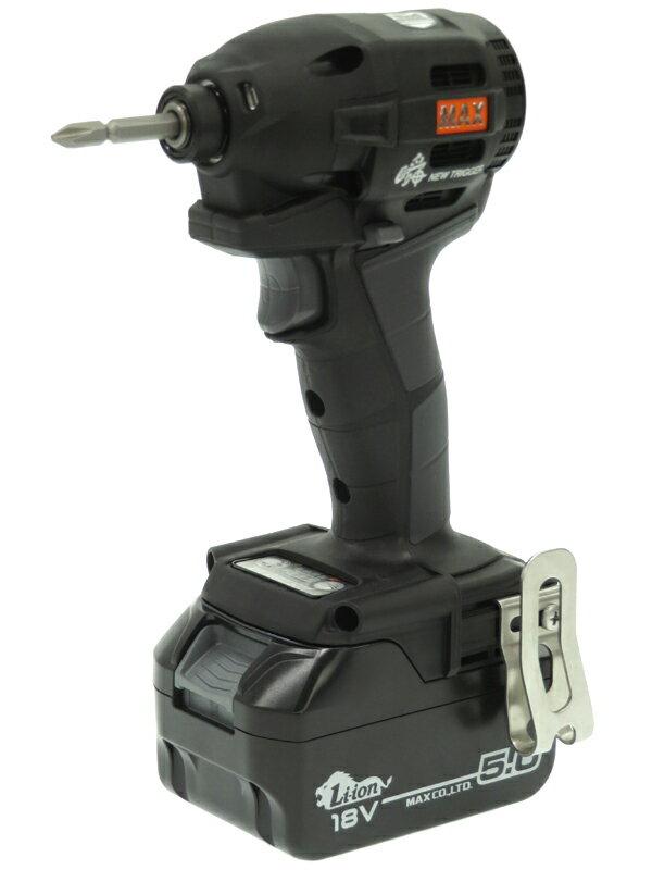 【MAX】マックス『充電式インパクトドライバ 18V/5.0Ah ブラック』PJ-ID152K-B2C/1850A 14.4V/18V兼用 1週間保証【中古】
