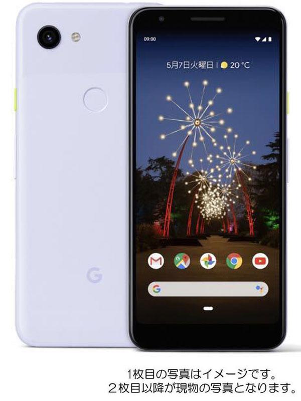 『Google Pixel 3a 64GB SIMロック解除済 ソフトバンク パープリッシュ』G020H 2019年5月発売 スマートフォン 1週間保証【中古】
