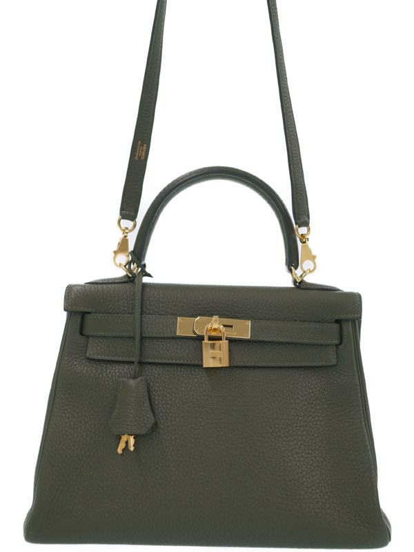 【HERMES】【ゴールド金具】エルメス『ケリー28 内縫い』□O刻印 2011年製 レディース 2WAYバッグ 1週間保証【中古】