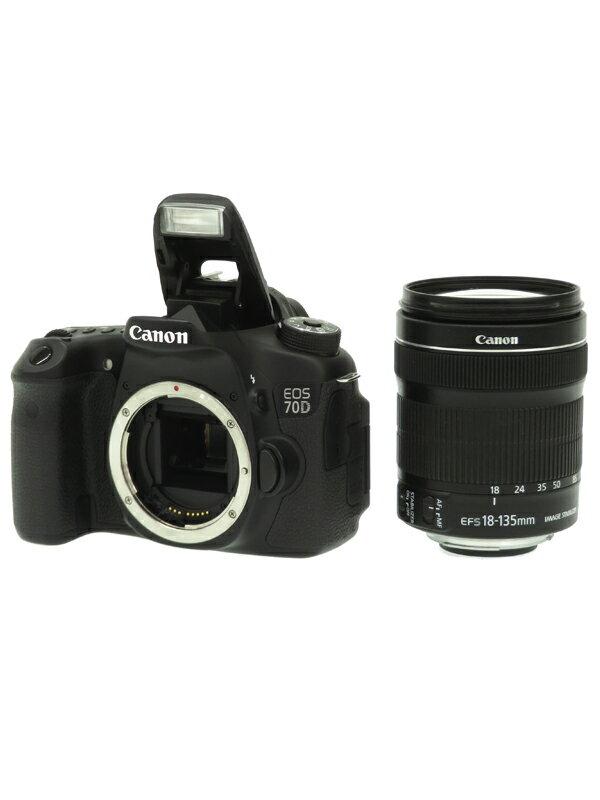 【Canon】キヤノン『EOS 70D EF-S 18-135 IS STMレンズキット』EF-S 2020万画素 Wi-Fi SDXC フルHD動画 デジタル一眼レフカメラ 1週間保証【中古】