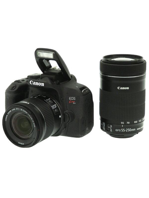 【Canon】キヤノン『EOS Kiss X9i ダブルズームキット』EF-S 2420万画素 SDXC フルHD動画 デジタル一眼レフカメラ 1週間保証【中古】