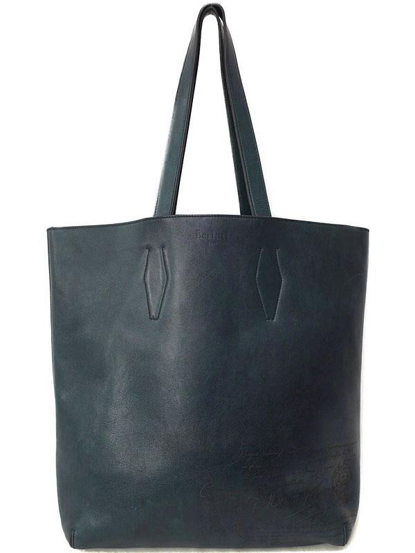 【Berluti】ベルルッティ『Esquisse カリグラフィ トートバッグ』メンズ 1週間保証【中古】