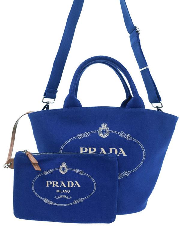【PRADA】プラダ『カナパ ファブリック ハンドバッグ』1BG186 レディース 2WAYバッグ 1週間保証【中古】