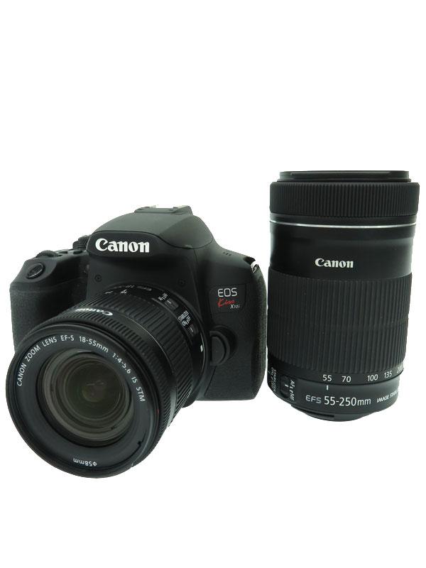 【Canon】キヤノン『EOS Kiss X10i ダブルズームキット ミラーレス一眼カメラ』2020年 2410万画素 3.0型 4K Wi-Fi デジタル一眼レフカメラ 1週間保証【中古】