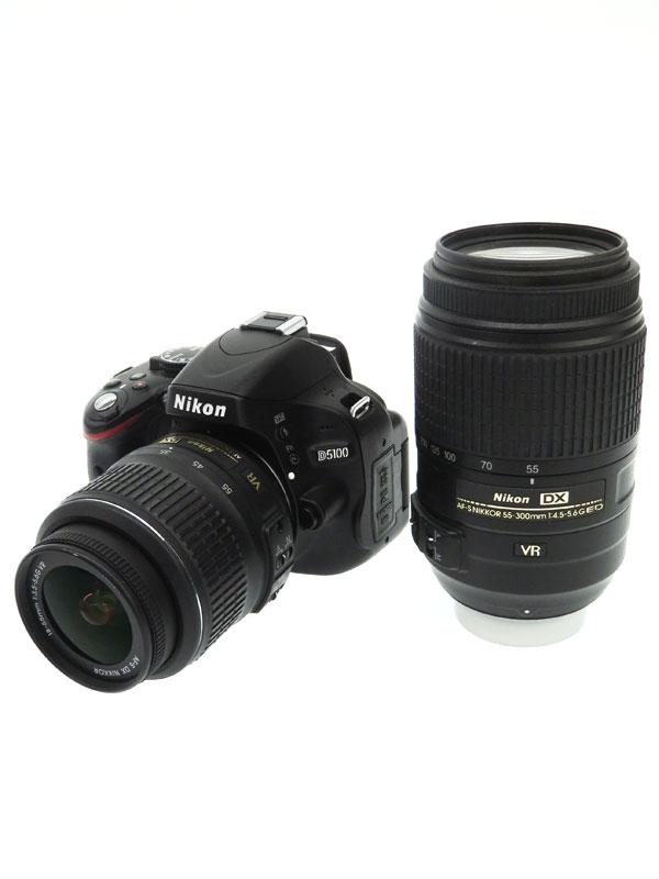 【Nikon】ニコン『D5100 ダブルズームキット』2011年 1620万画素 フルHD動画 DXフォーマット デジタル一眼レフカメラ 1週間保証【中古】