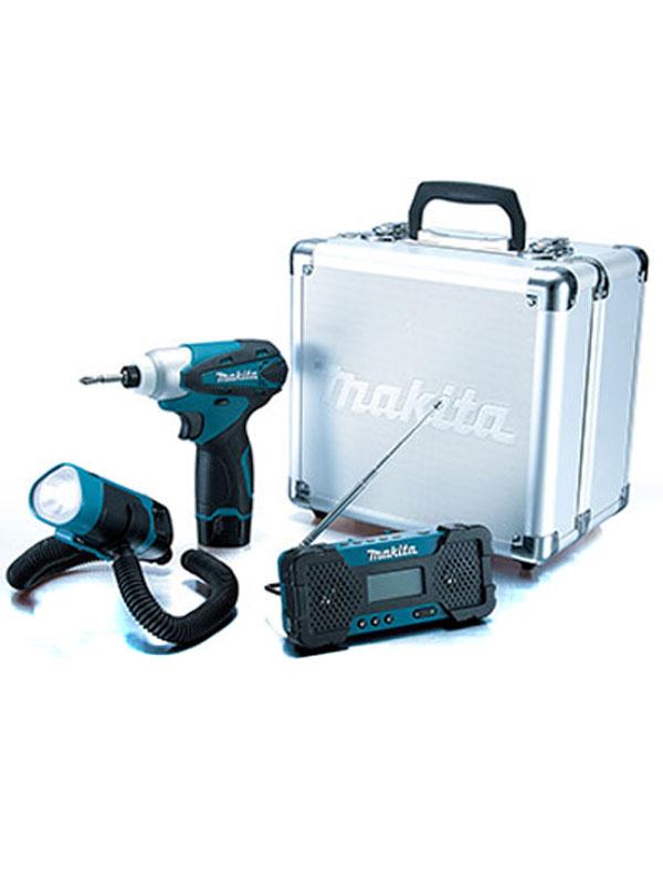 【makita】マキタ『ハグハグライト充電式ラジオセット』CK1002SP TD090 ML101 MR051 10.8v LED 電動工具 1週間保証【中古】