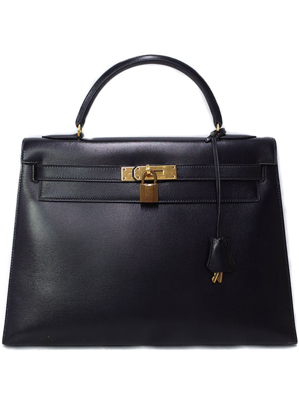 【HERMES】【ゴールド金具】エルメス『ケリー32 外縫い』〇K刻印 1981年製 レディース ハンドバッグ 1週間保証【中古】