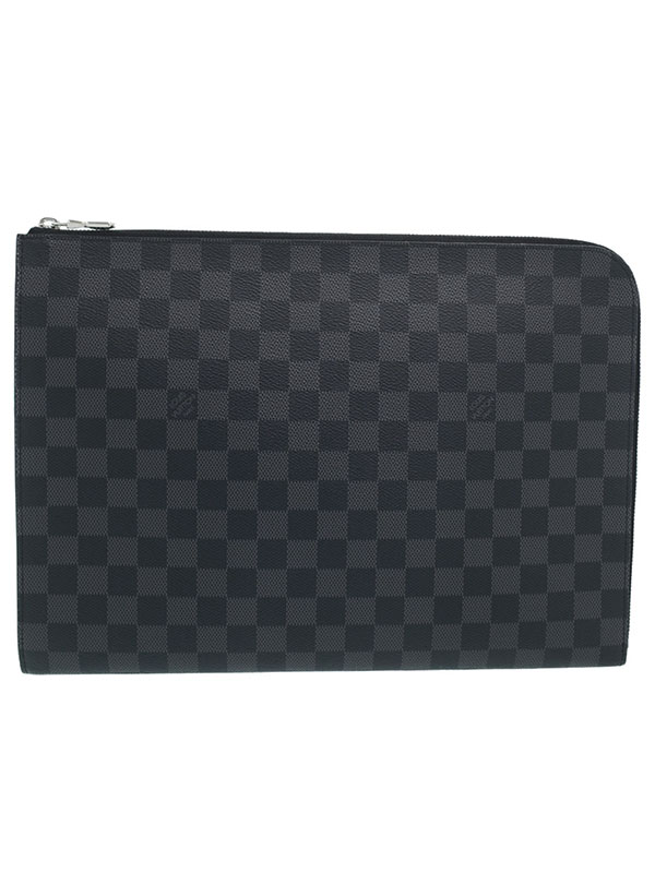 【LOUIS VUITTON】ルイヴィトン『ダミエ グラフィット ポシェット ジュールGM NM』N64437 メンズ クラッチバッグ 1週間保証【中古】