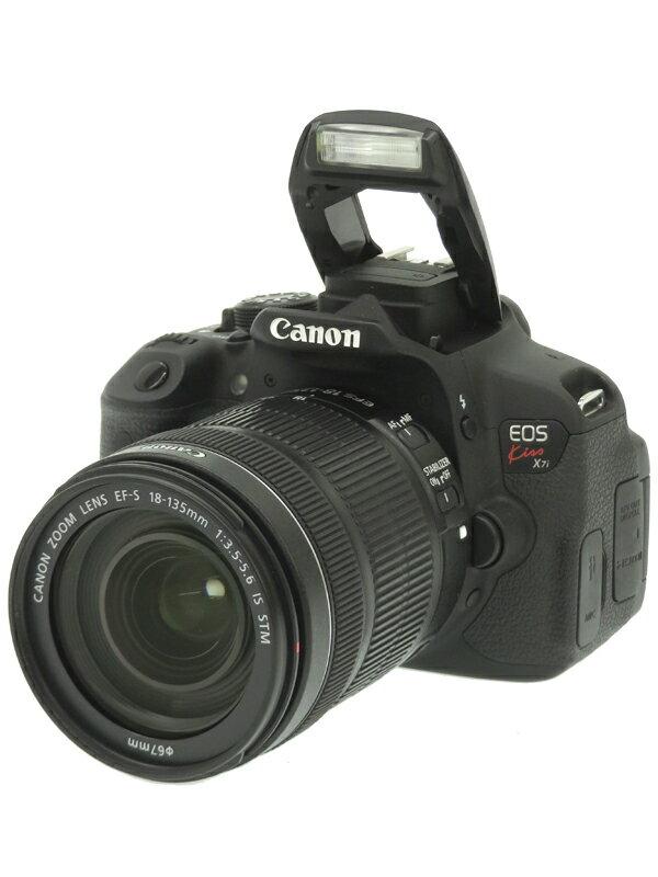 【Canon】キヤノン『EOS Kiss X7i EF-S 18-135 IS STMレンズキット』1800万画素 SDXC フルHD動画 デジタル一眼レフカメラ 1週間保証【中古】