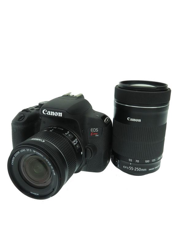 【Canon】キヤノン『EOS Kiss X9i ダブルズームキット』EOSKISSX9I-WKIT 2017年4月発売 2420万画素 デジタル一眼レフカメラ 1週間保証【中古】