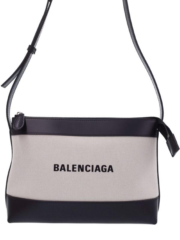 【BALENCIAGA】【NAVY】バレンシアガ『ネイビー クロスボディバッグ』639497 レディース ショルダーバッグ 1週間保証【中古】