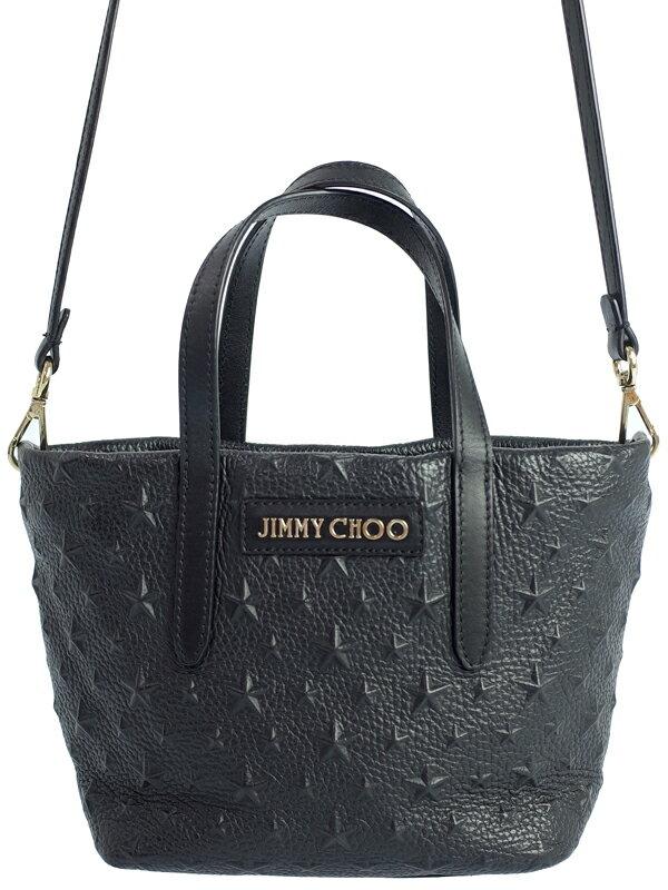 【Jimmy Choo】【MINI SARA】ジミーチュウ『ミニサラ スターエンボス 2WAYトートバッグ』レディース 2WAYバッグ 1週間保証【中古】