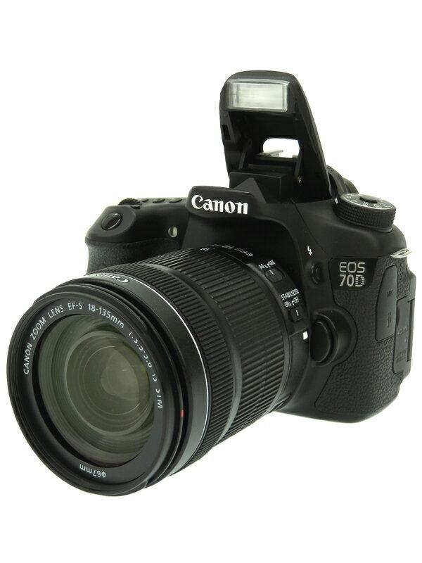 【Canon】キヤノン『EOS 70D EF-S 18-135 IS STMレンズキット』EF-S 2020万画素 Wi-Fi フルHD動画 SDXC デジタル一眼レフカメラ 1週間保証【中古】