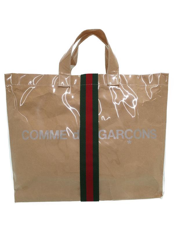 【COMME des GARCONS×GUCCI】コムデギャルソン『グッチコラボ シェリーライン トートバッグ』OB-K 201 メンズ 1週間保証【中古】
