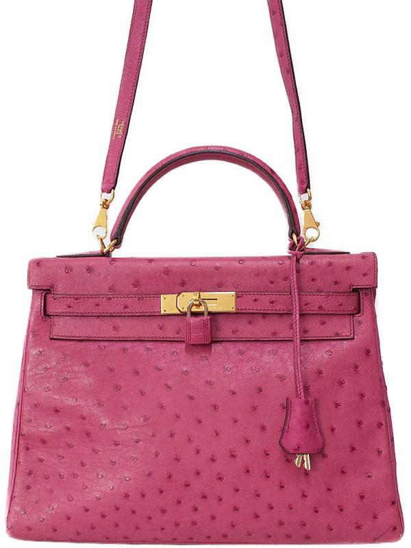 【HERMES】【ゴールド金具】エルメス『ケリー32 内縫い』□I刻印 2005年製 レディース 2WAYバッグ 1週間保証【中古】