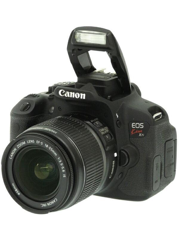 【Canon】キヤノン『EOS Kiss X7i + EF-S18-55mm F3.5-5.6 IS』1800万画素 フルHD動画 SDXC デジタル一眼レフカメラ 1週間保証【中古】