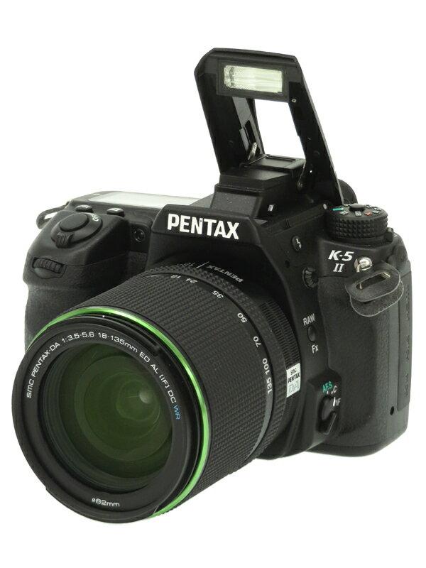 【PENTAX】ペンタックス『K-5 II 18-135 レンズキット』1628万画素 APS-C フルHD動画 SDXC デジタル一眼レフカメラ 1週間保証【中古】