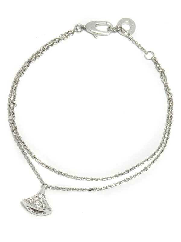 【BVLGARI】ブルガリ『K18WG ディーヴァ ドリーム ブレスレット ダイヤモンド』1週間保証【中古】