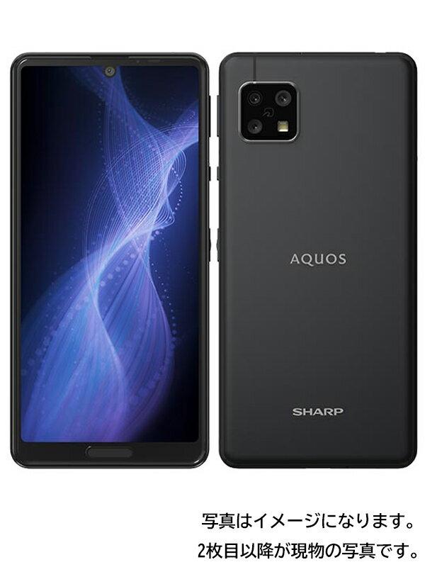【SHARP】【アクオス】シャープ『AQUOS sense5G 64GB SIMフリー ブラック』SH-M17 2021年3月発売 スマートフォン 1週間保証【中古】