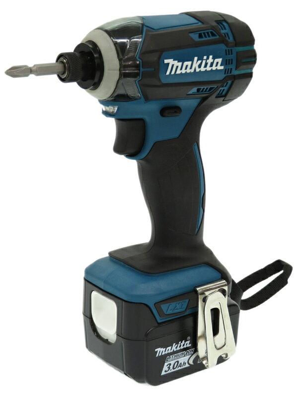 【Makita】マキタ『14.4V 充電式インパクトドライバ バッテリ2本/充電器/ケース付 青』TD138DRFX 1週間保証【中古】