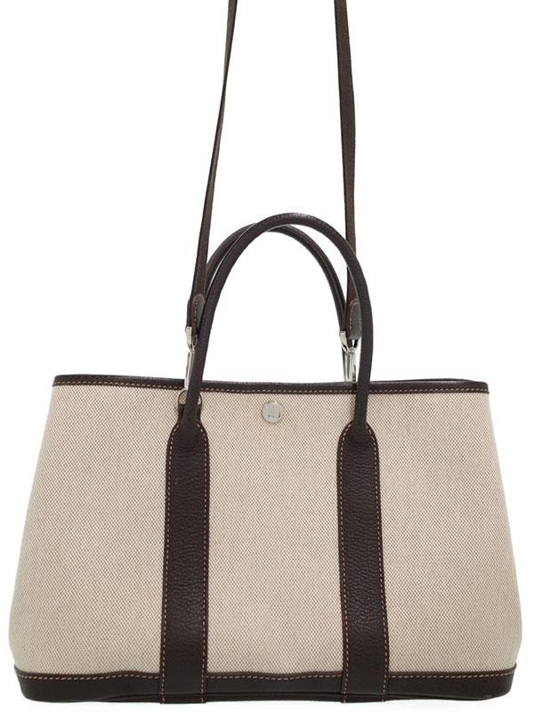 【HERMES】エルメス『ガーデンパーティ30』□H刻印 2004年製 レディース 2WAYバッグ 1週間保証【中古】
