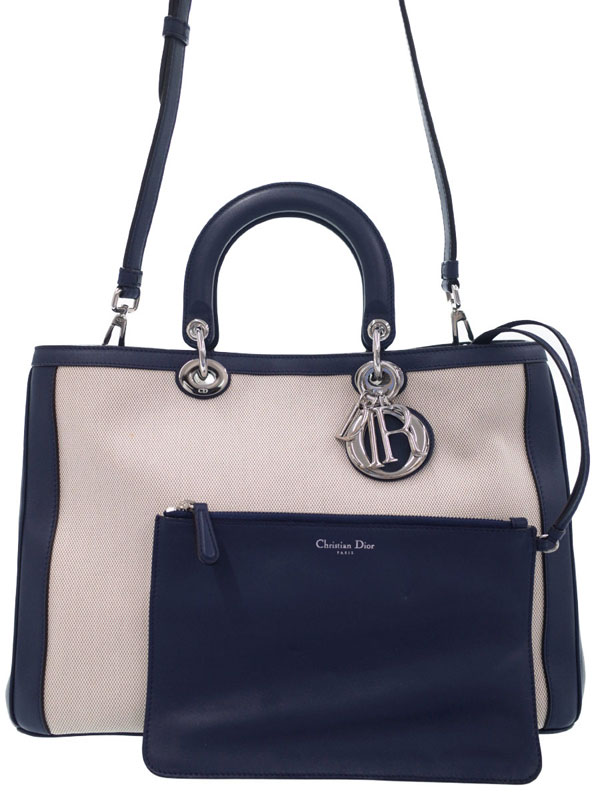 【Christian Dior】クリスチャンディオール『ディオリッシモ 2WAYトートバッグ』レディース 2WAYバッグ 1週間保証【中古】
